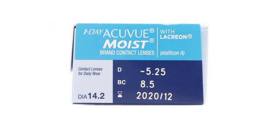 1-Day Acuvue Moist 30 Lenses pack side image