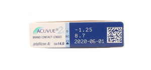 Acuvue 2 contact lenses box side image