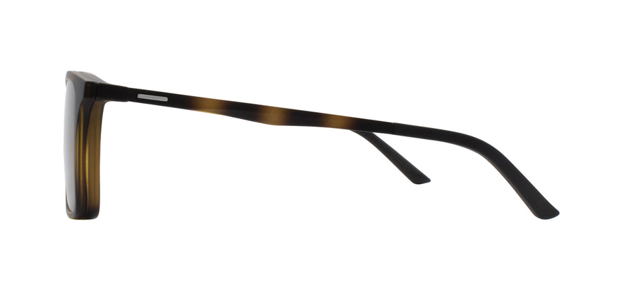 Matte Havana Clip-On sunglasses side