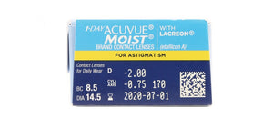 Acuvue Moist for Astigmatism side image