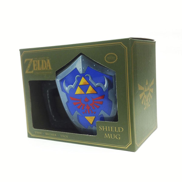 Taza en Forma del Escudo de Link (The Legend of Zelda)