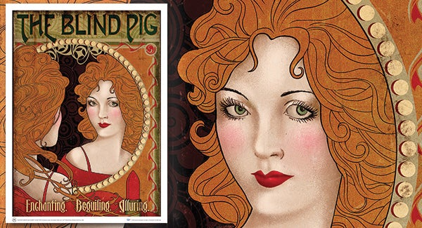 Póster Decorativo de Animales Fantásticos: The Blind Pig