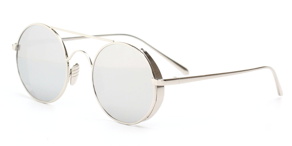 Retro Vintage Metal Circle Round Mirrored UV Protection Fashion Sunglasses for Men and Women