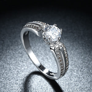 Swarovski Crystal 18K White Gold Plated Sally Ring