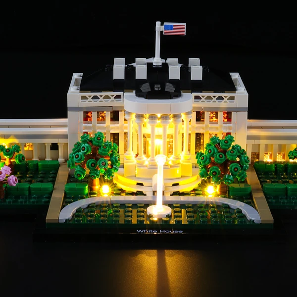 Recreate The World-Famous Residence: Lighting Lego The White House 21054