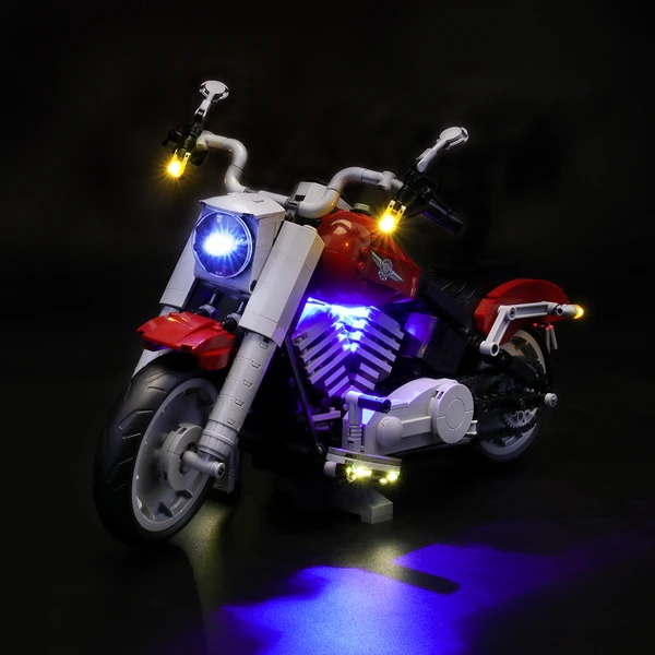 Fun With Lighting Lego Creator Expert Harley Motorcycle 10269