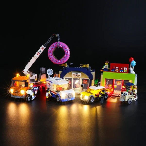 Lighting Lego Donut Shop Opening 60233 Set Best Gift For City Fans