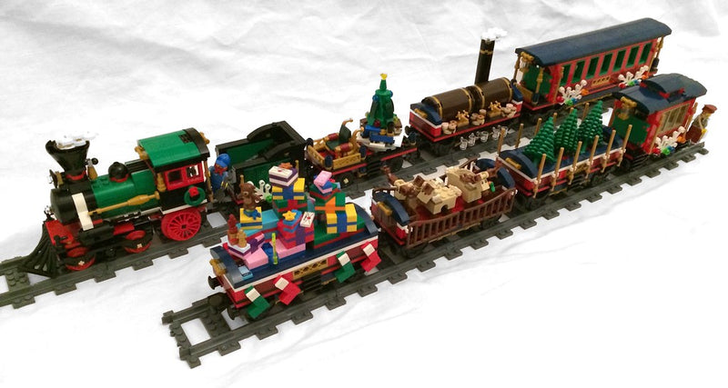 Create Christmas Special Lighting Lego Display Winter Holiday Train 10254