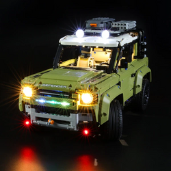 Super Impressive, Highly Authentic and Displayble Set: Lighting Lego Land Rover Defender 42110