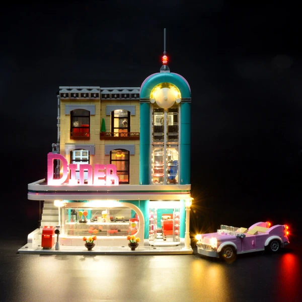 How to Make Incredible to Creator Expert Lego Downtown Diner 10260 Set?