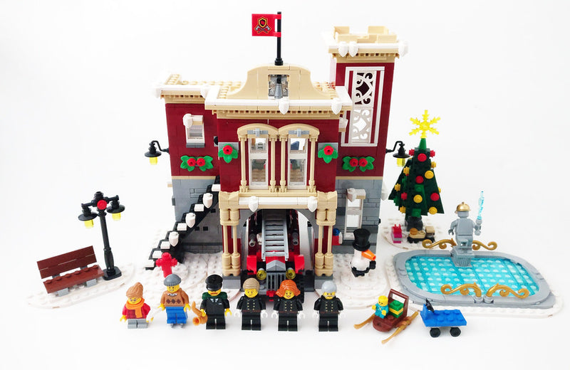 Delightful Christmas Light kit Gift to Winter Village Fire Station 10263 and 10259 Lego