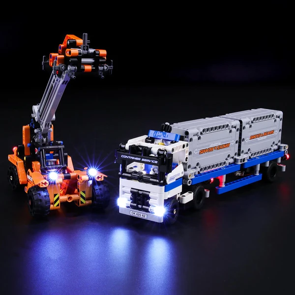 Add Shine To Rewarding Build-And-Play Experience of Lego Technic Container Yard 42062 set