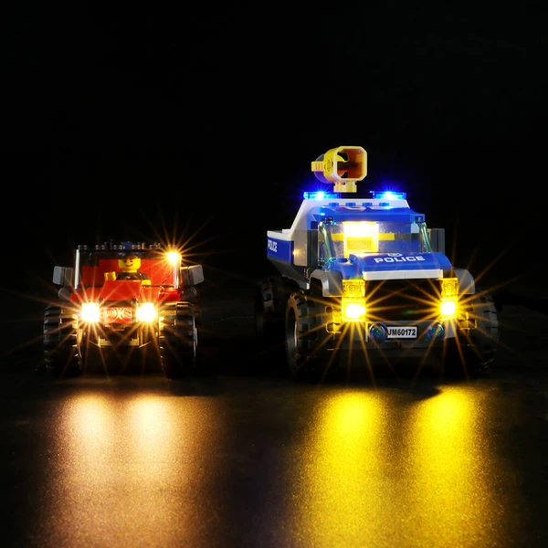 Create The Lighting Lego City Set The Dirt Road Pursuit 60172!