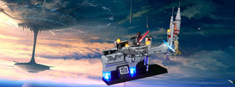 Spectacle Re-creates An Iconic Lighting Lego Empire Strikes Back Bespin Duel 75294