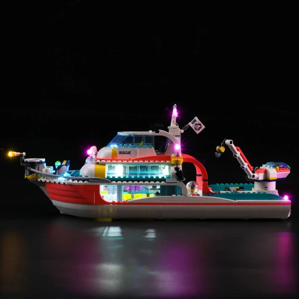 The Ultimate Sea Life With Lighting Lego Rescue Mission Boat 41381