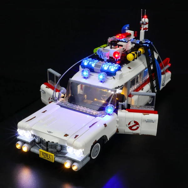 Checkout This Iconic Lighting Ghostbusters ECTO-1 10274 Set With The Ultimate Experience!