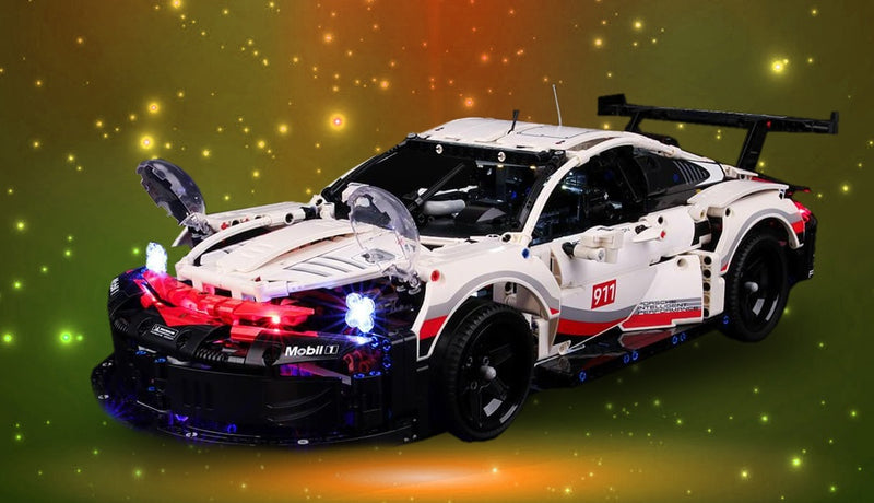 Spectacular Lighting Lego Porsche 911 RSR 42096 Set