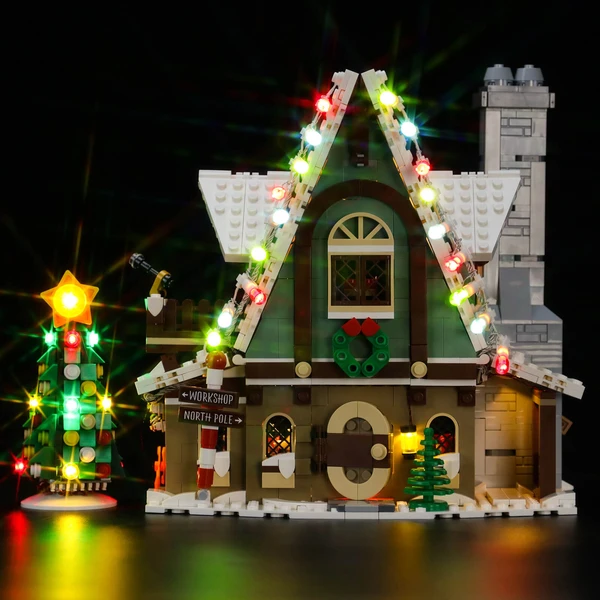 Lighting Colorful Cottage Lego Elf Club House 10275