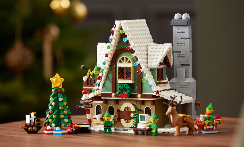 This Year's an Exclusive Seasonal Collection with This Lighting Elf Club House 10275 Set