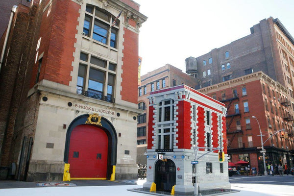 Create the Famous Firehouse Headquarters 75827 With Lighting Effect From The Ghostbuster!