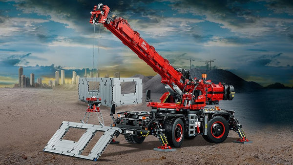 How To Bring Vitality In The Massive Lego Rough Terrain Crane 42082?