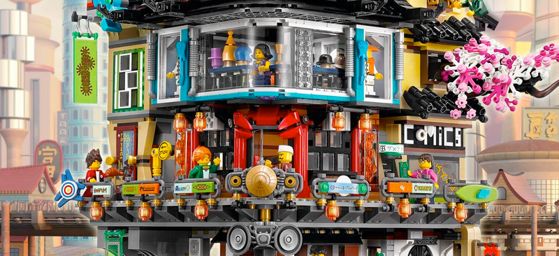 How to glance the Ninjago City 70620 set