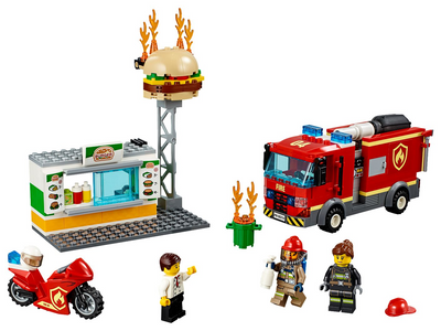 Save The Burger Bar With Lighting Fire Rescue 60214 Set