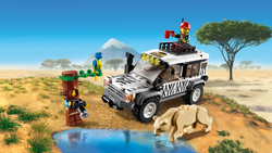 Explore Wildlife Adventures with Lighting Lego City Safari Off-Roader 60267
