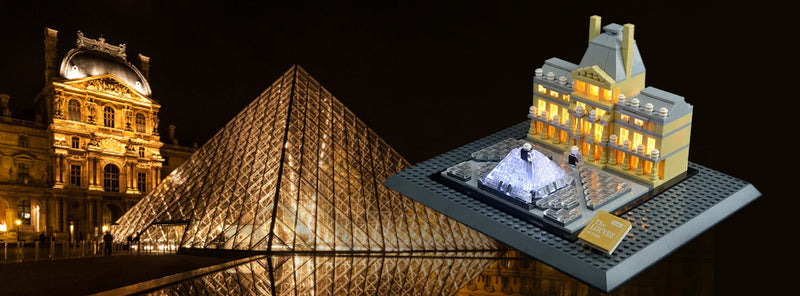 Lighting Masterpiece Build- Lego Louvre 21024 Set