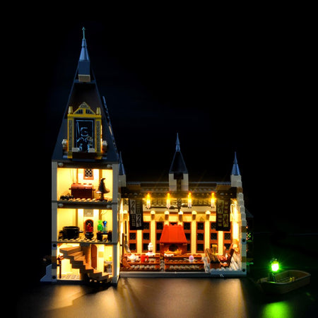 harry potter great hall lego lights