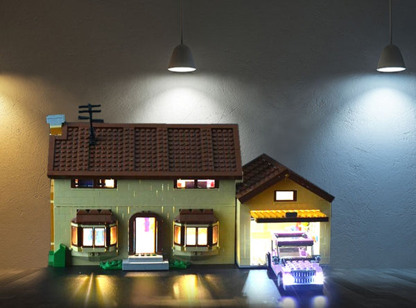 light kit for Simpsons house set