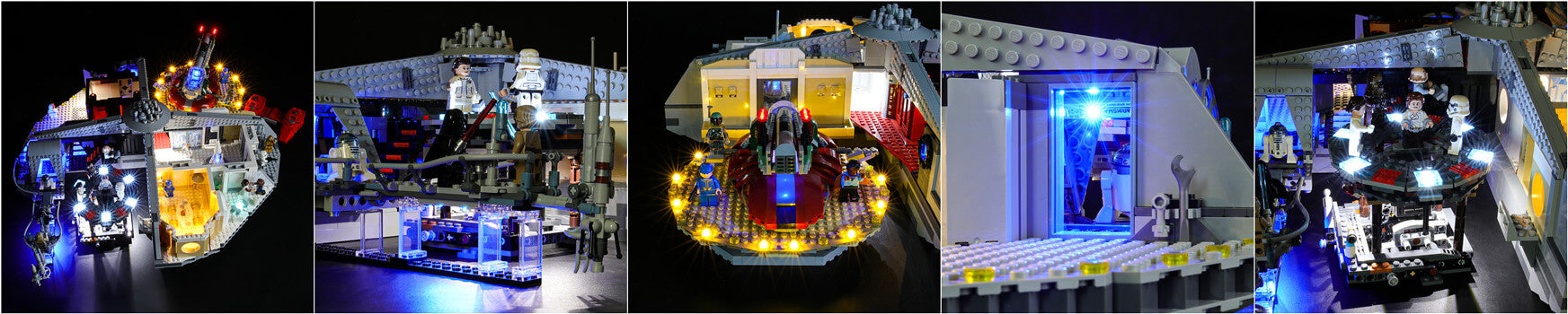lego star wars cloud city with lights