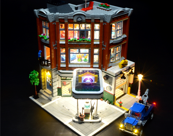 Lego Light kit for Corner Garage