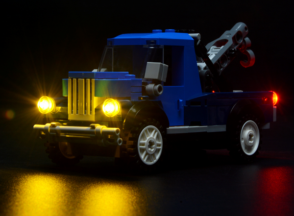 Lego corner garage car with light kit