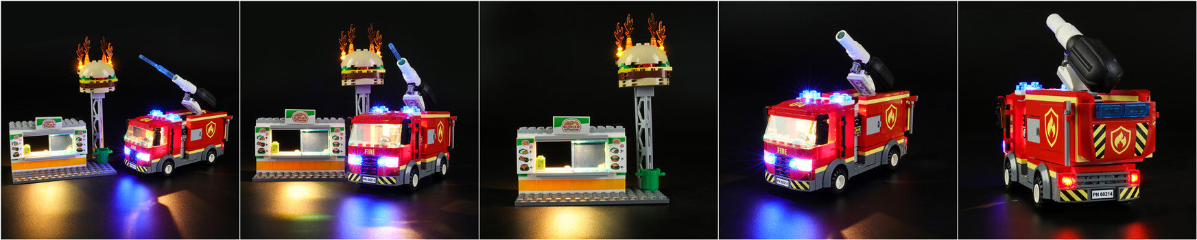 add led lights to lego city burger bar fire rescue