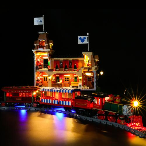 Lego Disney Train and Station with lights