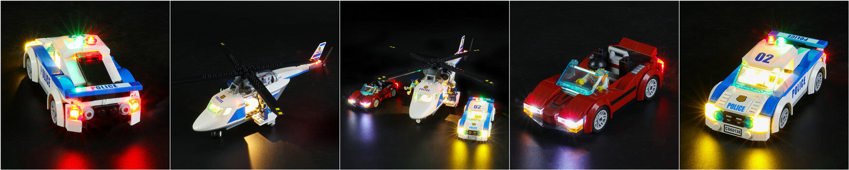light up lego city high speed chase