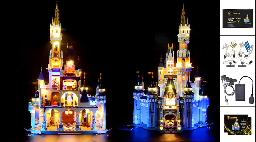 disney castle lighting