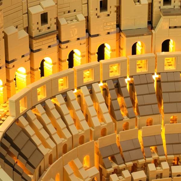 add lights to Lego Colosseum 10276
