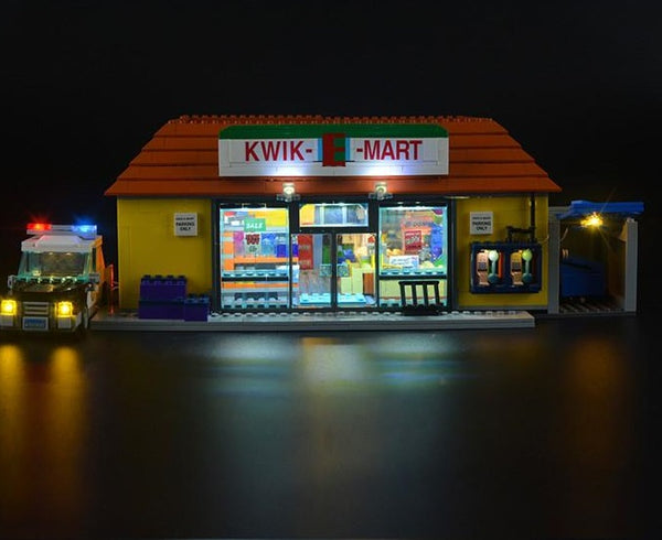 Light up lego The Kwik-E-Mart