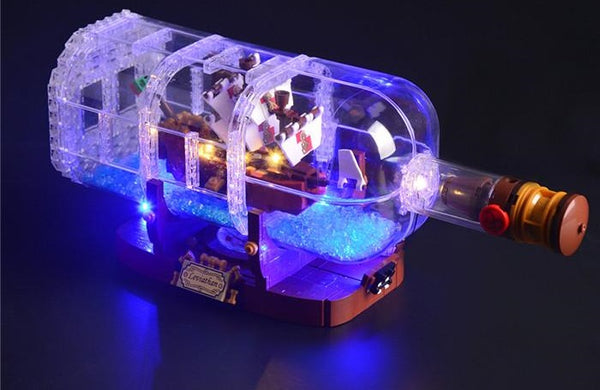 Lego ship in the bottle