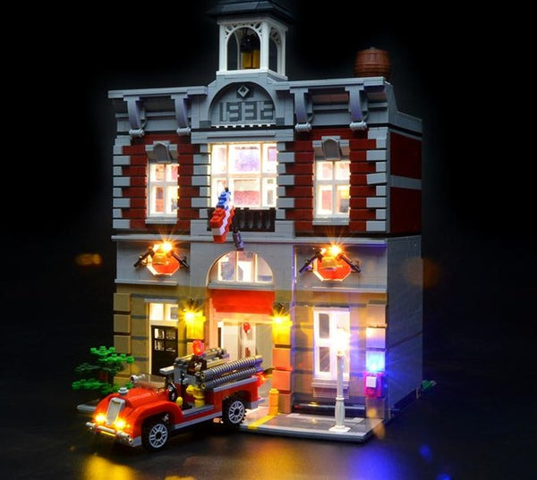 Light up your fire brigade lego set