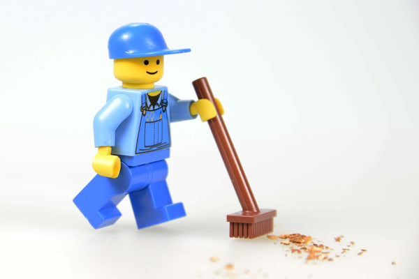 how to clean lego