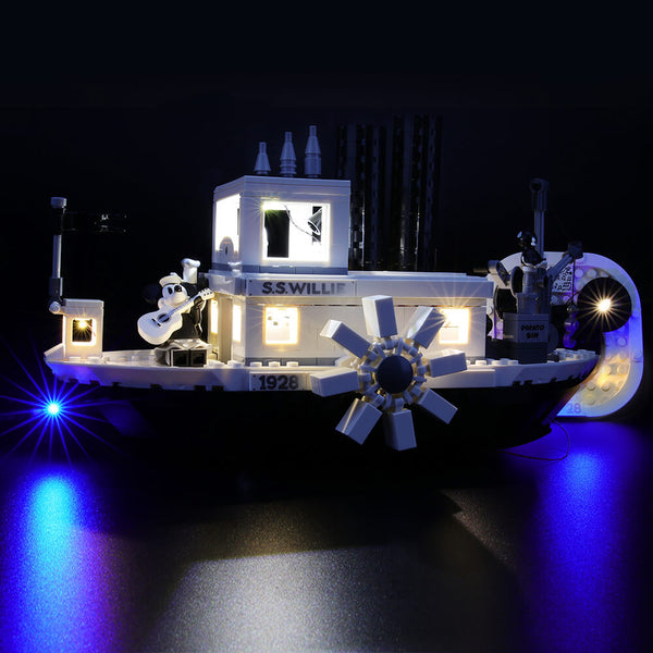 Lego Light Kit For Mickey Mouse Steamboat Willie 21317  BriksMax