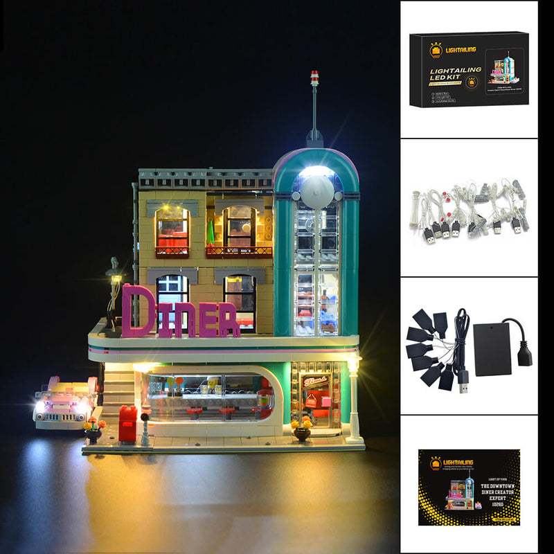 Lego Light Kit For Downtown Diner 10260  Lightailing