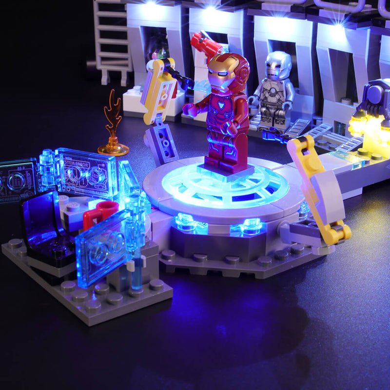 Lego Light Kit For Iron Man Hall of Armor 76125  BriksMax