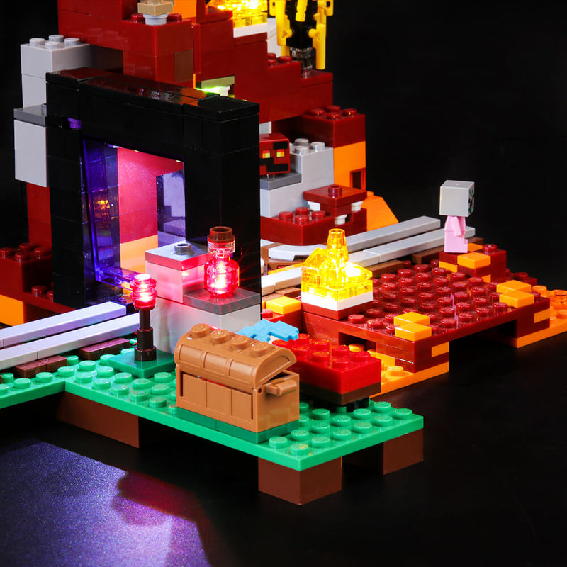 Lego Light Kit For The Nether Portal 21143  BriksMax