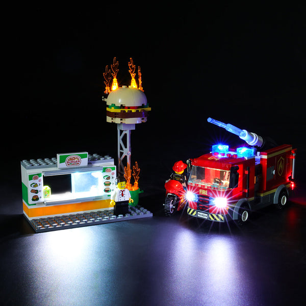 Lego Light Kit For Burger Bar Fire Rescue 60214  BriksMax