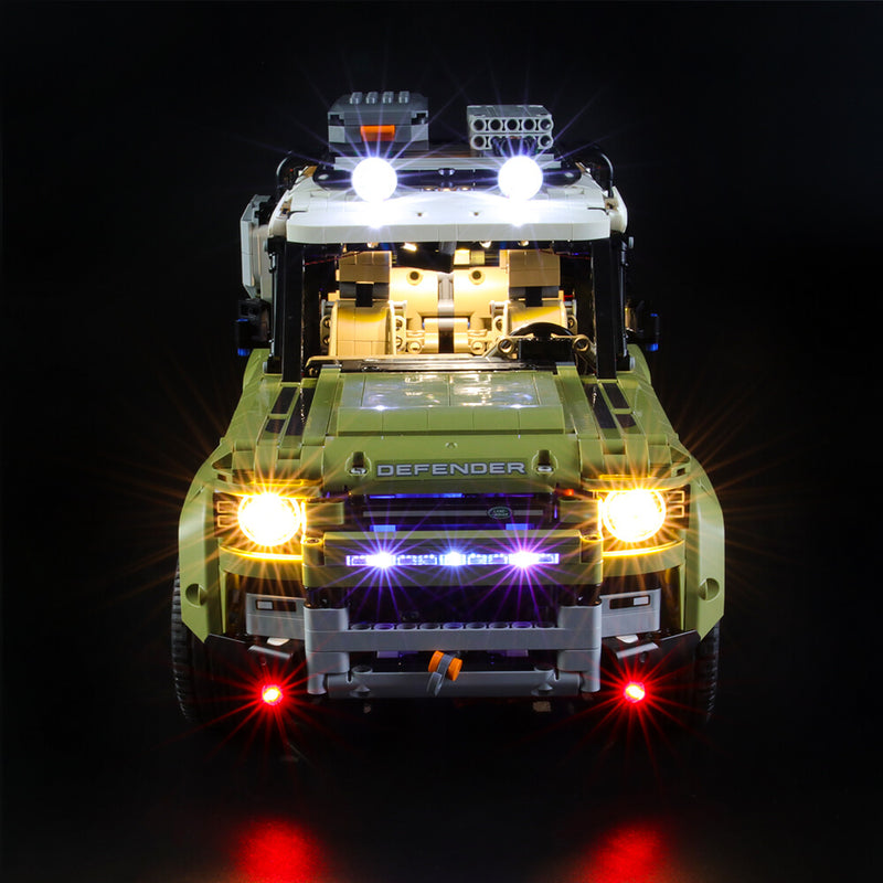 Lego Light Kit For Land Rover Defender 42110  BriksMax