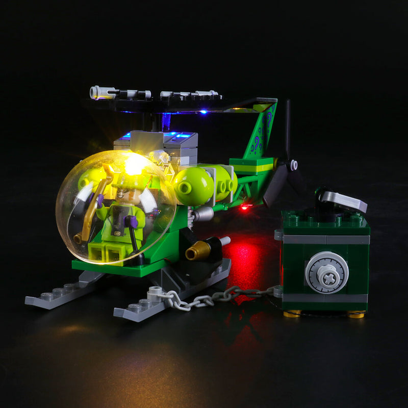 BRIKSMAX Led Lighting Kit for Batman Batwing and The Riddler Heist Compatible with Lego 76120 Building Blocks Model Not Include The Lego Set